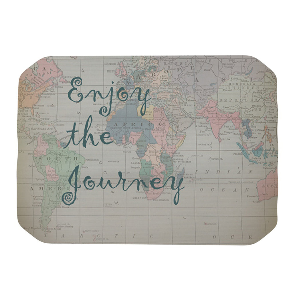 "Catherine Holcombe ""Journey"" World Map Place Mat - KESS InHouse"