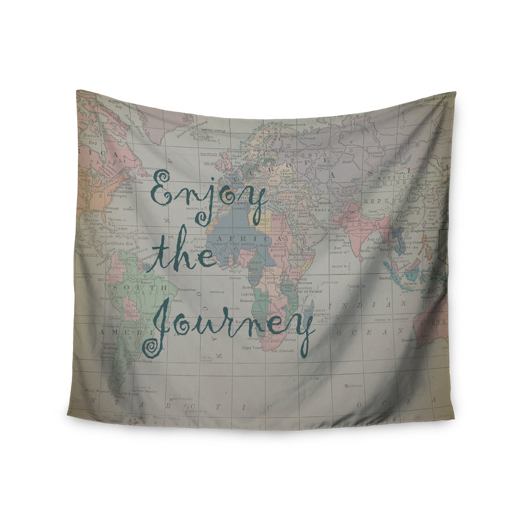 "Catherine Holcombe ""Journey"" World Map Wall Tapestry - KESS InHouse  - 1"