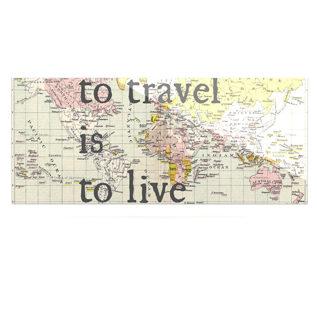 "Catherine Holcombe ""To Travel Is To Live"" Color Map Luxe Rectangle Panel - KESS InHouse  - 1"