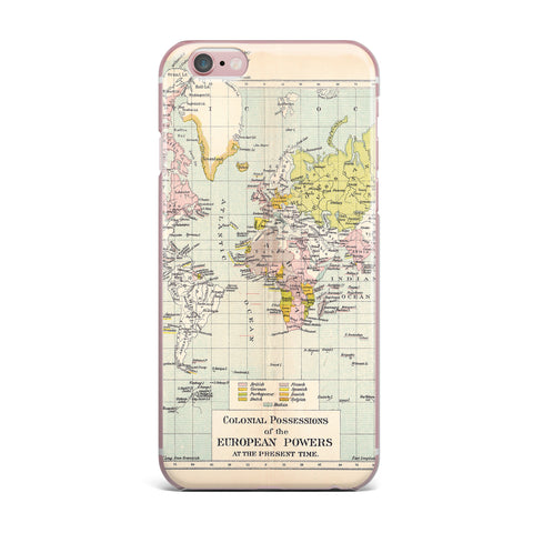 "Catherine Holcombe ""Travel"" World Map iPhone Case - KESS InHouse"