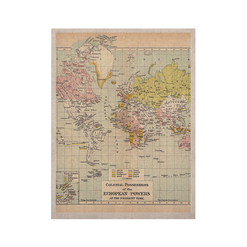 "Catherine Holcombe ""Travel"" World Map KESS Naturals Canvas (Frame not Included) - KESS InHouse  - 1"