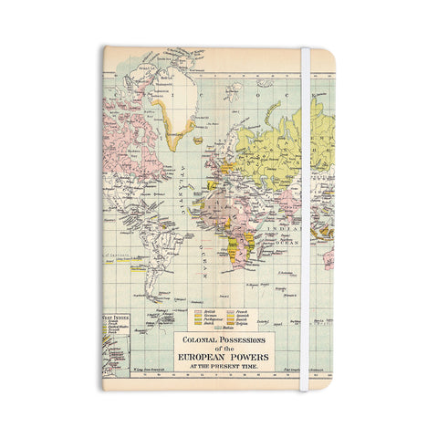 "Catherine Holcombe ""Travel"" World Map Everything Notebook - KESS InHouse  - 1"