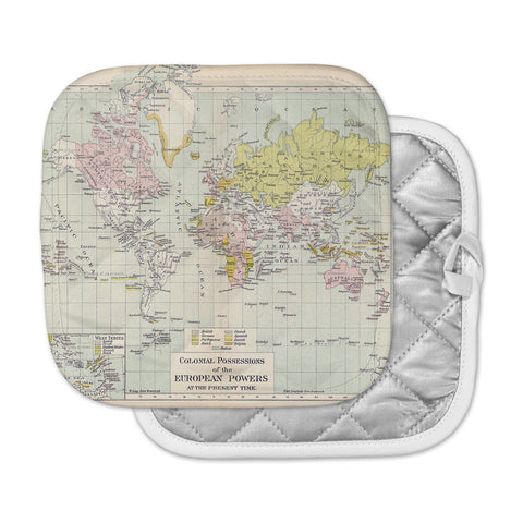 "Catherine Holcombe ""Travel"" World Map Pot Holder"