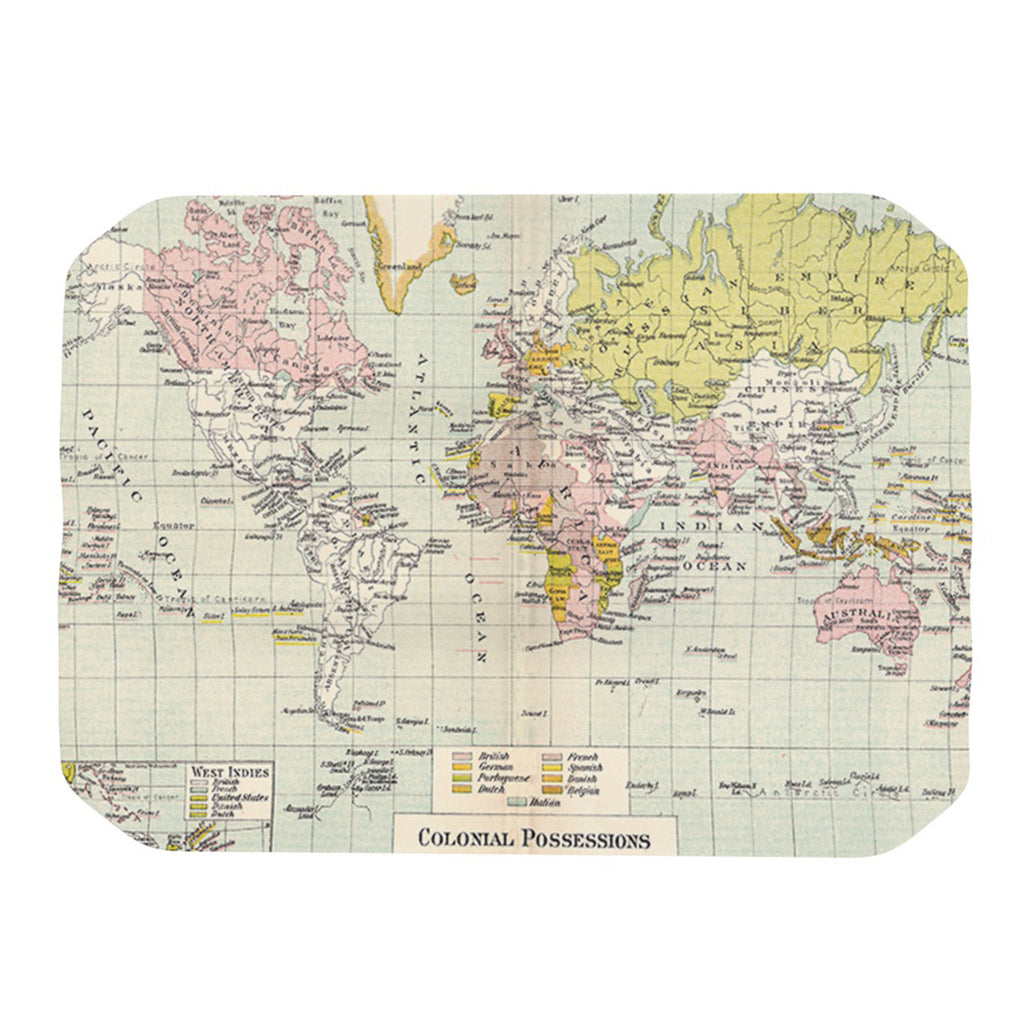 "Catherine Holcombe ""Travel"" World Map Place Mat - KESS InHouse"