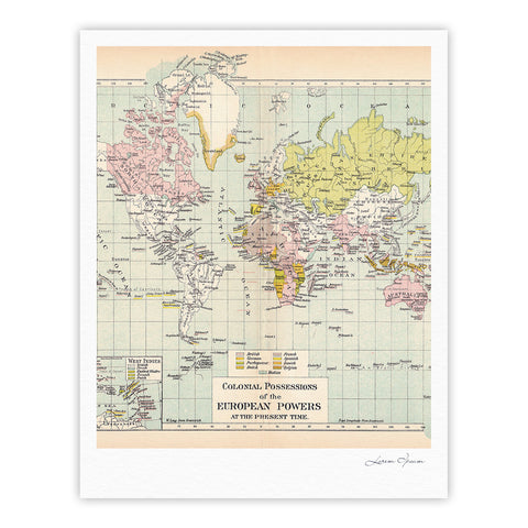 "Catherine Holcombe ""Travel"" World Map Fine Art Gallery Print - KESS InHouse"