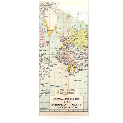 "Catherine Holcombe ""Travel"" World Map Luxe Rectangle Panel - KESS InHouse  - 1"