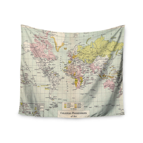 "Catherine Holcombe ""Travel"" World Map Wall Tapestry - KESS InHouse"