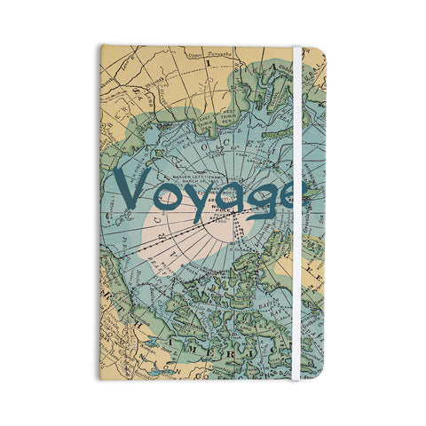 "Catherine Holcombe ""Voyage"" Teal Map Everything Notebook - KESS InHouse  - 1"