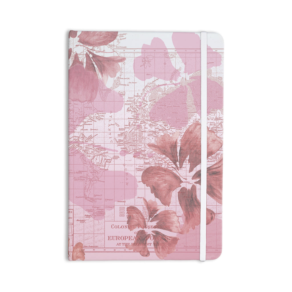 "Catherine Holcombe ""Flower Power Pink"" Map Everything Notebook - KESS InHouse  - 1"