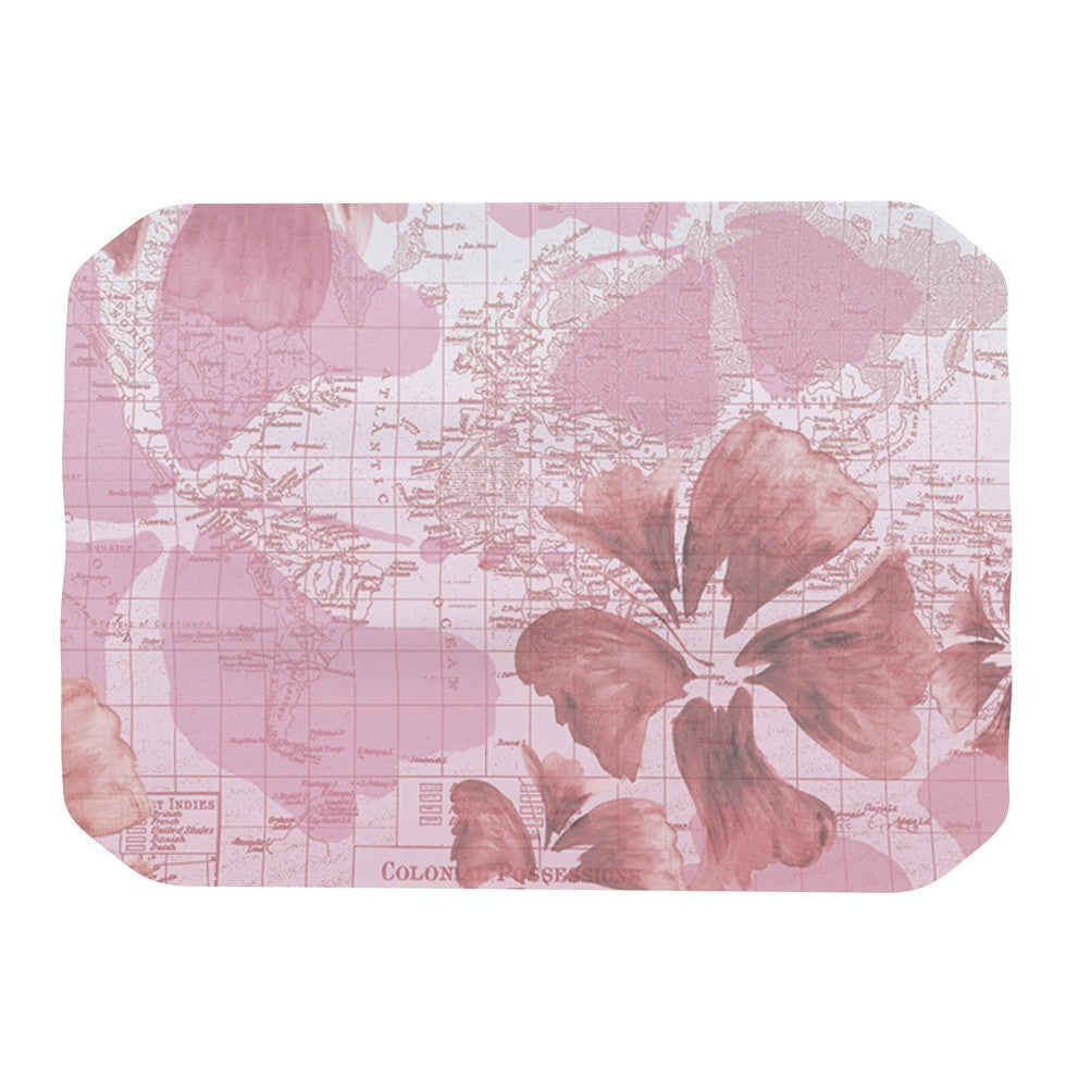 "Catherine Holcombe ""Flower Power Pink"" Map Place Mat - KESS InHouse"