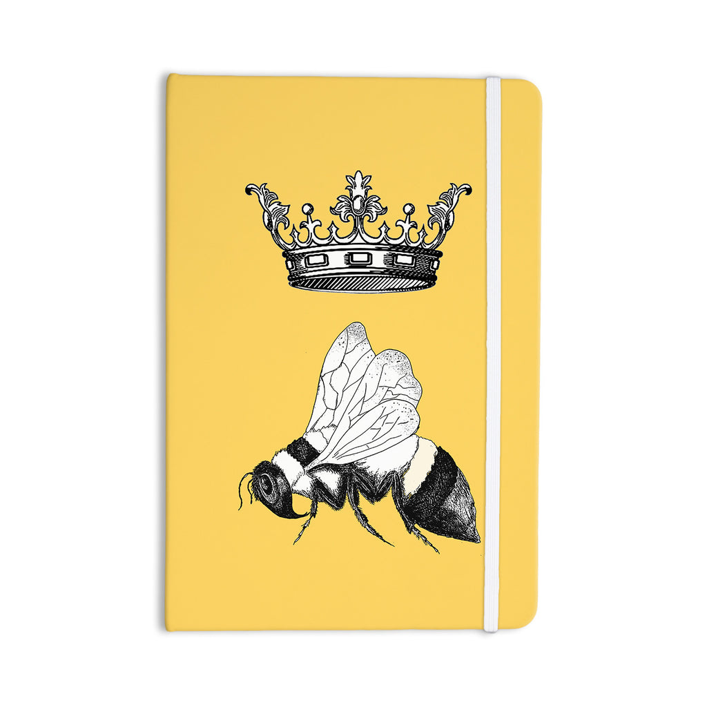 "Catherine Holcombe ""Queen Bee"" Canary Yellow Everything Notebook - KESS InHouse  - 1"