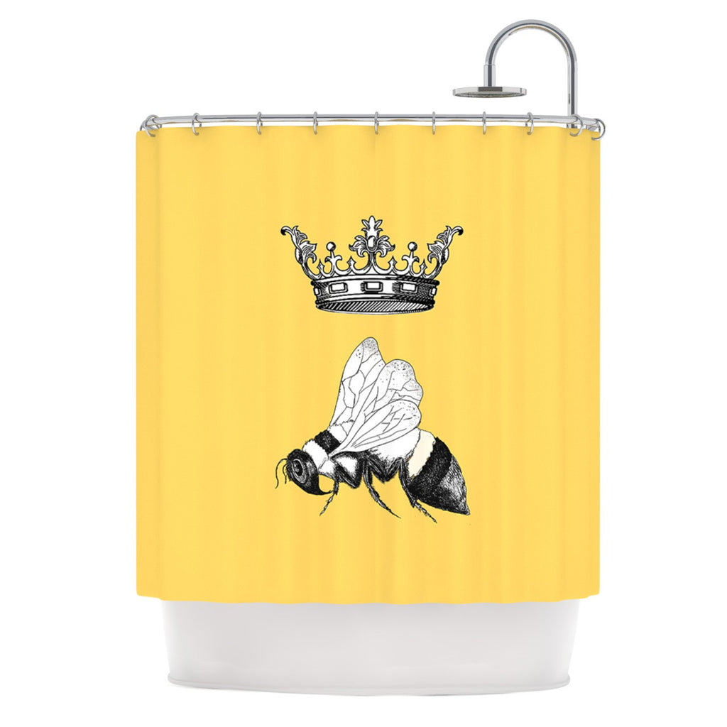 Queen Bee Shower Curtain By Catherine Holcombe