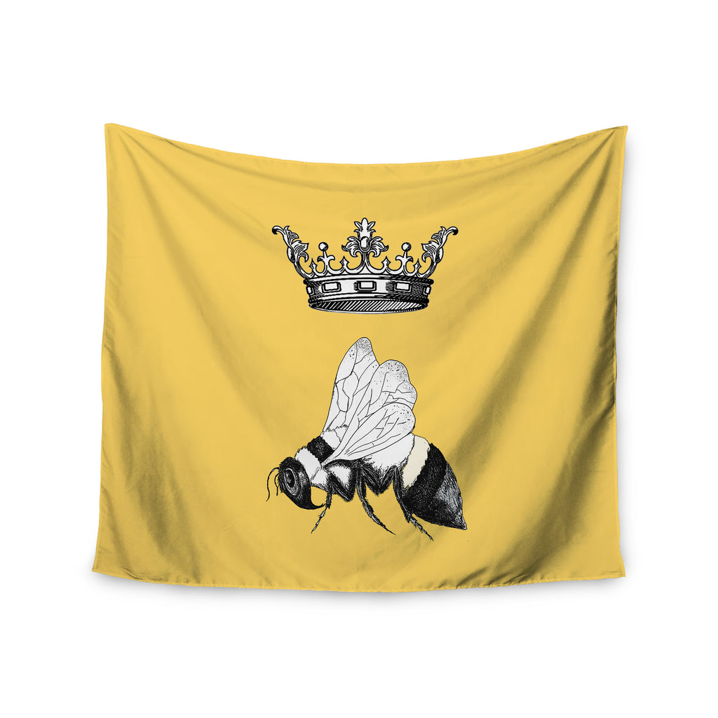 "Catherine Holcombe ""Queen Bee"" Canary Yellow Wall Tapestry - KESS InHouse  - 1"