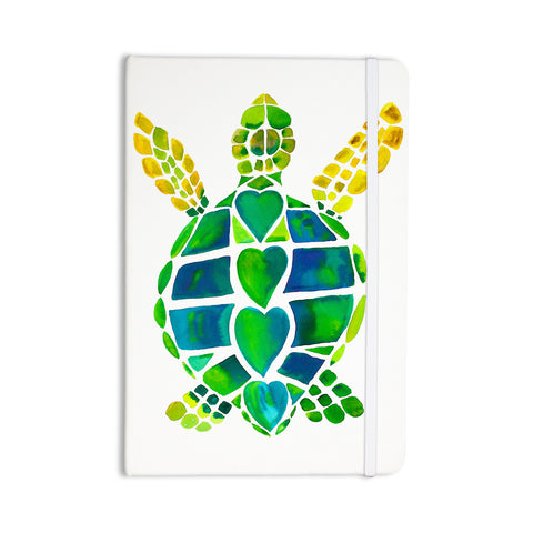 "Catherine Holcombe ""Turtle Love"" Green Teal Everything Notebook - KESS InHouse  - 1"