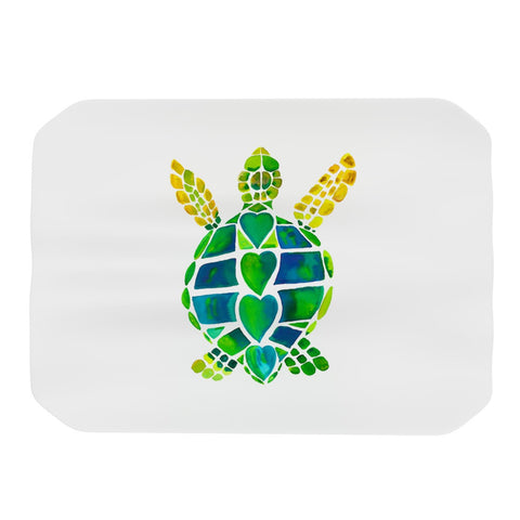 "Catherine Holcombe ""Turtle Love"" Green Teal Place Mat - KESS InHouse"