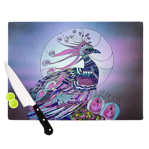 "Catherine Holcombe ""Peacock"" Purple Lavender Cutting Board - Outlet Item"