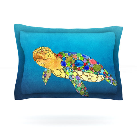 "Catherine Holcombe ""Bubbles"" Blue Turtle Pillow Sham - Outlet Item"