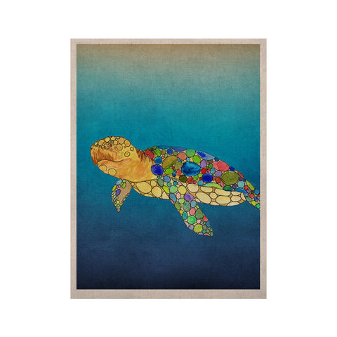 "Catherine Holcombe ""Bubbles"" Blue Turtle KESS Naturals Canvas (Frame not Included) - KESS InHouse  - 1"