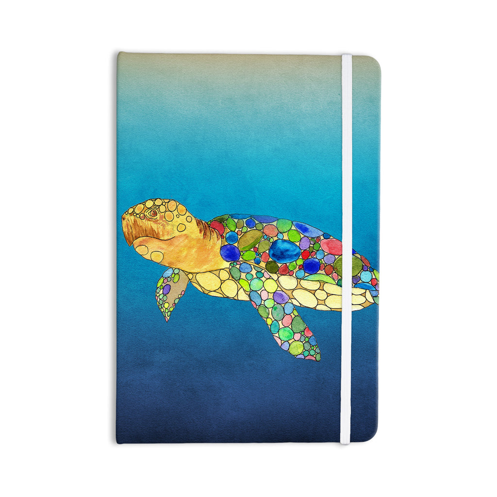 "Catherine Holcombe ""Bubbles"" Blue Turtle Everything Notebook - KESS InHouse  - 1"