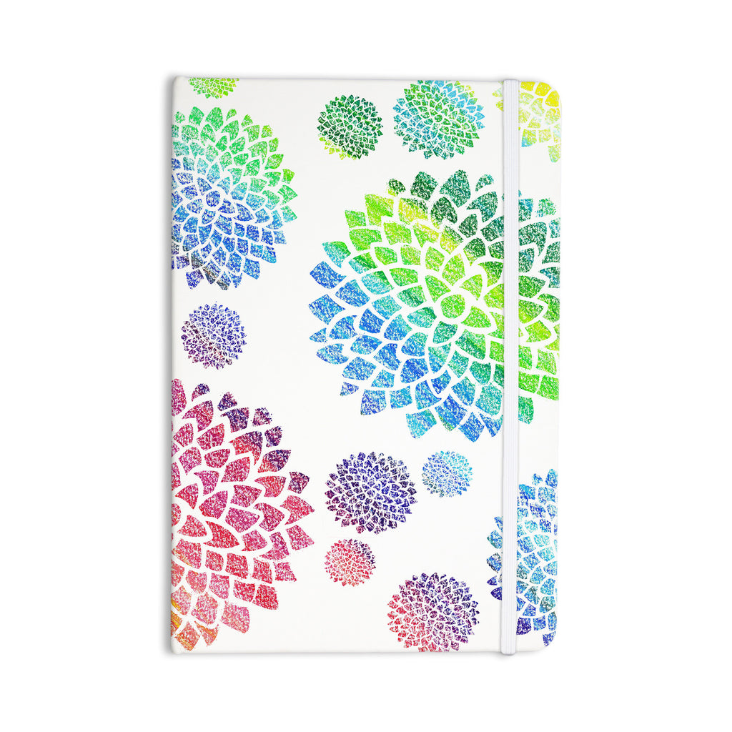 "Catherine Holcombe ""Feel the Rainbow"" Rainbow White Everything Notebook - KESS InHouse  - 1"