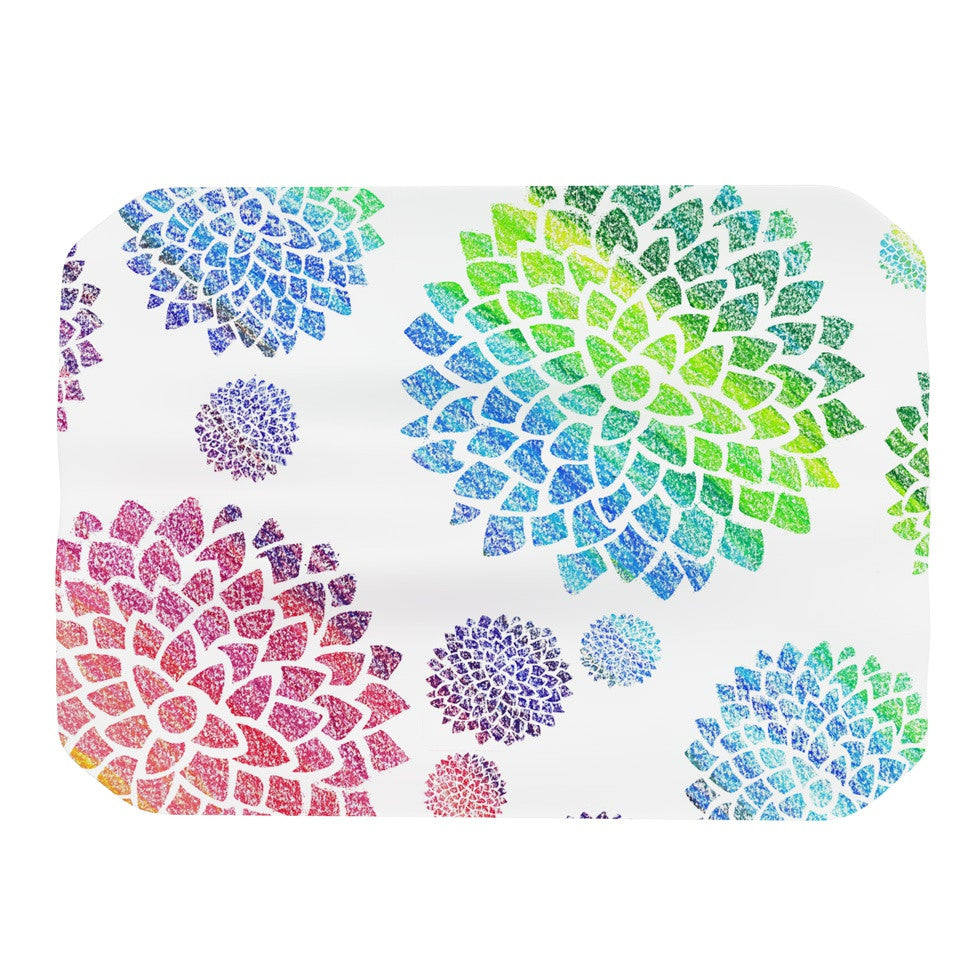 "Catherine Holcombe ""Feel the Rainbow"" Rainbow White Place Mat - KESS InHouse"