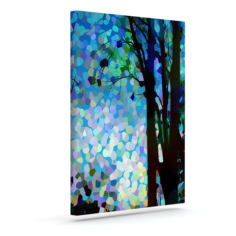 "Catherine Holcombe ""Blue Raspberry Jellybean"" Blue Geometric Canvas Art - KESS InHouse  - 1"