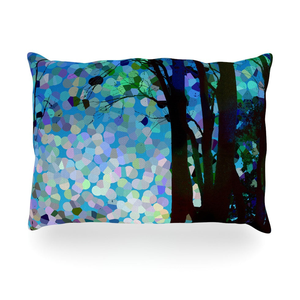 "Catherine Holcombe ""Blue Raspberry Jellybean"" Blue Geometric Oblong Pillow - KESS InHouse"
