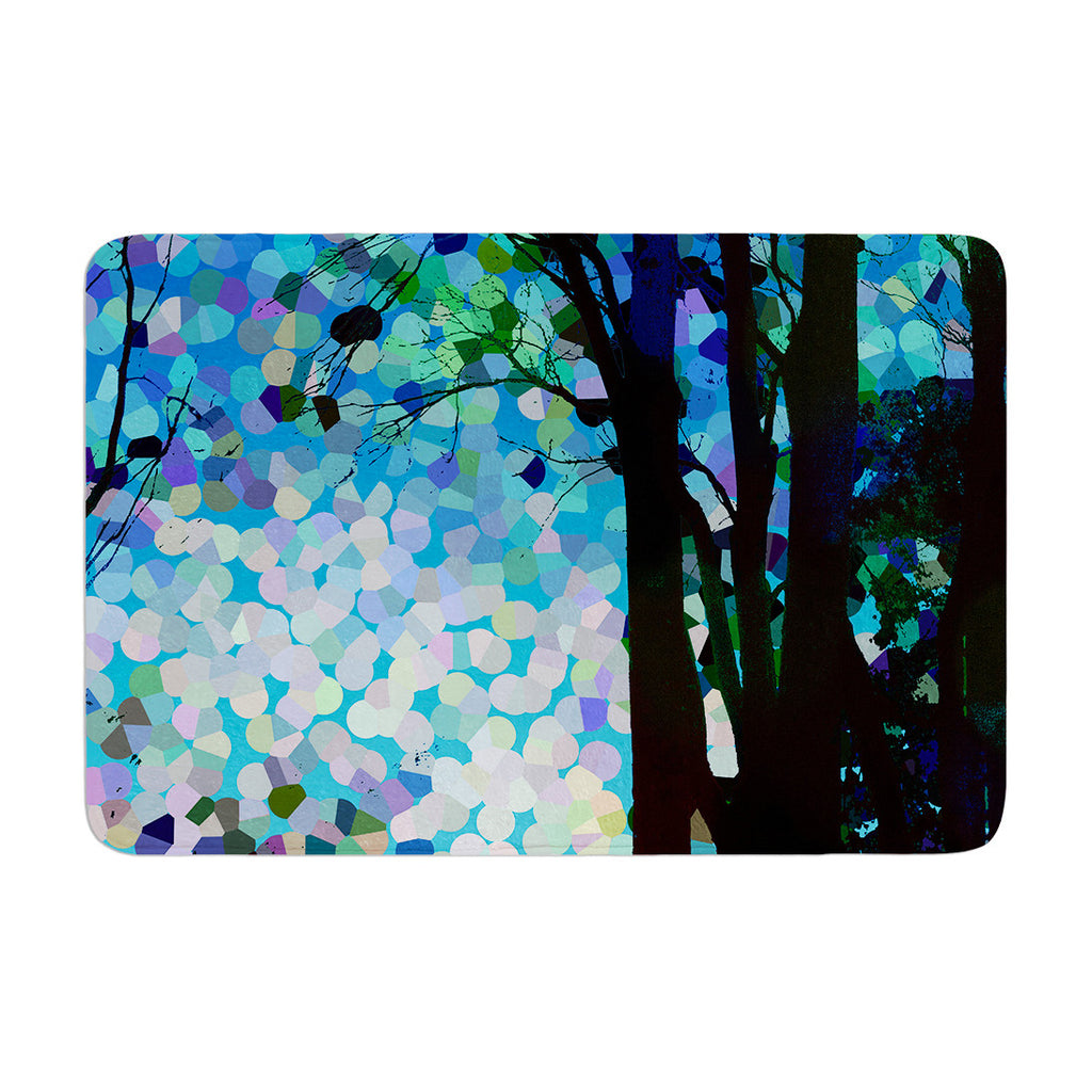 "Catherine Holcombe ""Blue Raspberry Jellybean"" Blue Geometric Memory Foam Bath Mat - KESS InHouse"