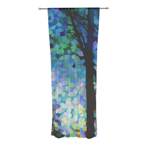 "Catherine Holcombe ""Blue Raspberry Jellybean"" Blue Geometric Decorative Sheer Curtain - KESS InHouse  - 1"