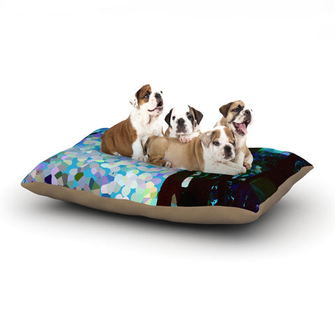 "Catherine Holcombe ""Blue Raspberry Jellybean"" Blue Geometric Dog Bed - KESS InHouse  - 1"