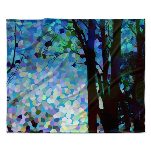 "Catherine Holcombe ""Blue Raspberry Jellybean"" Blue Geometric Fleece Throw Blanket"