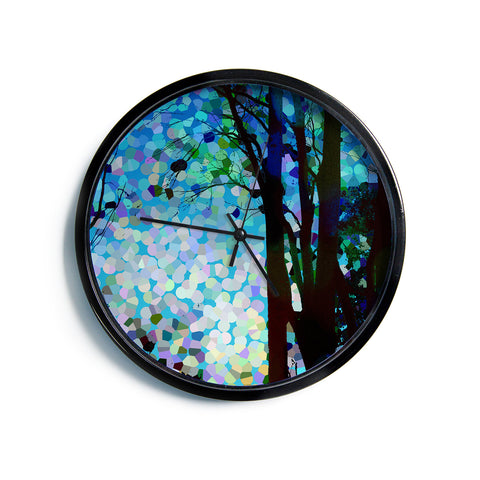 "Catherine Holcombe ""Blue Raspberry Jellybean"" Blue Geometric Modern Wall Clock"