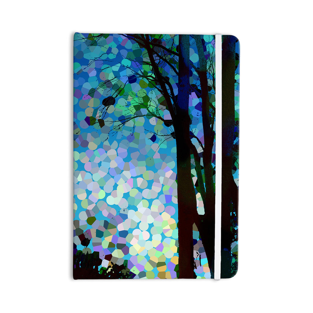 "Catherine Holcombe ""Blue Raspberry Jellybean"" Blue Geometric Everything Notebook - KESS InHouse  - 1"