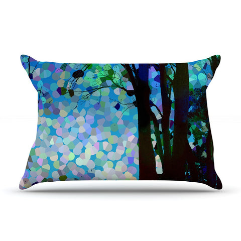 "Catherine Holcombe ""Blue Raspberry Jellybean"" Blue Geometric Pillow Sham - KESS InHouse"