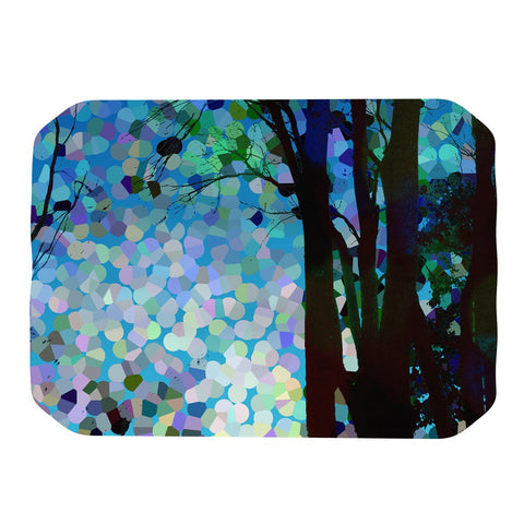 "Catherine Holcombe ""Blue Raspberry Jellybean"" Blue Geometric Place Mat - KESS InHouse"