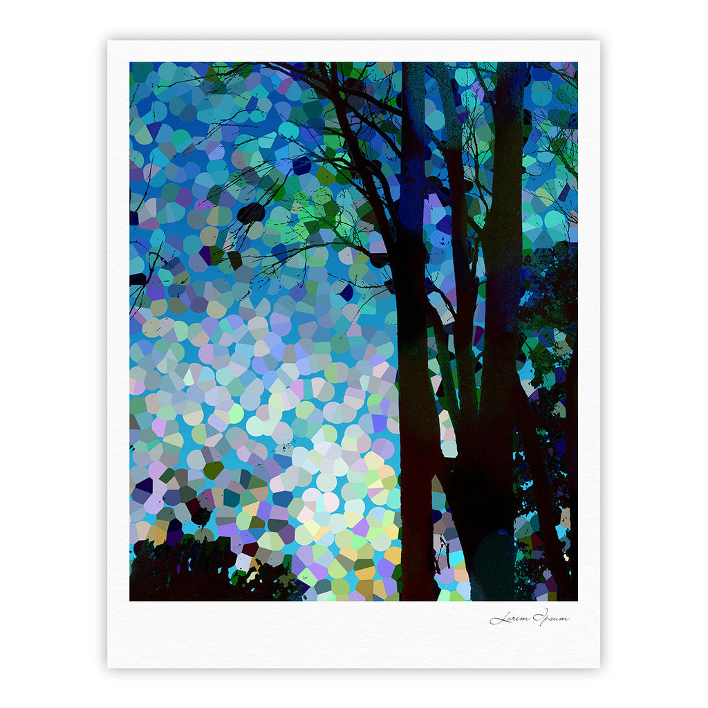 "Catherine Holcombe ""Blue Raspberry Jellybean"" Blue Geometric Fine Art Gallery Print - KESS InHouse"