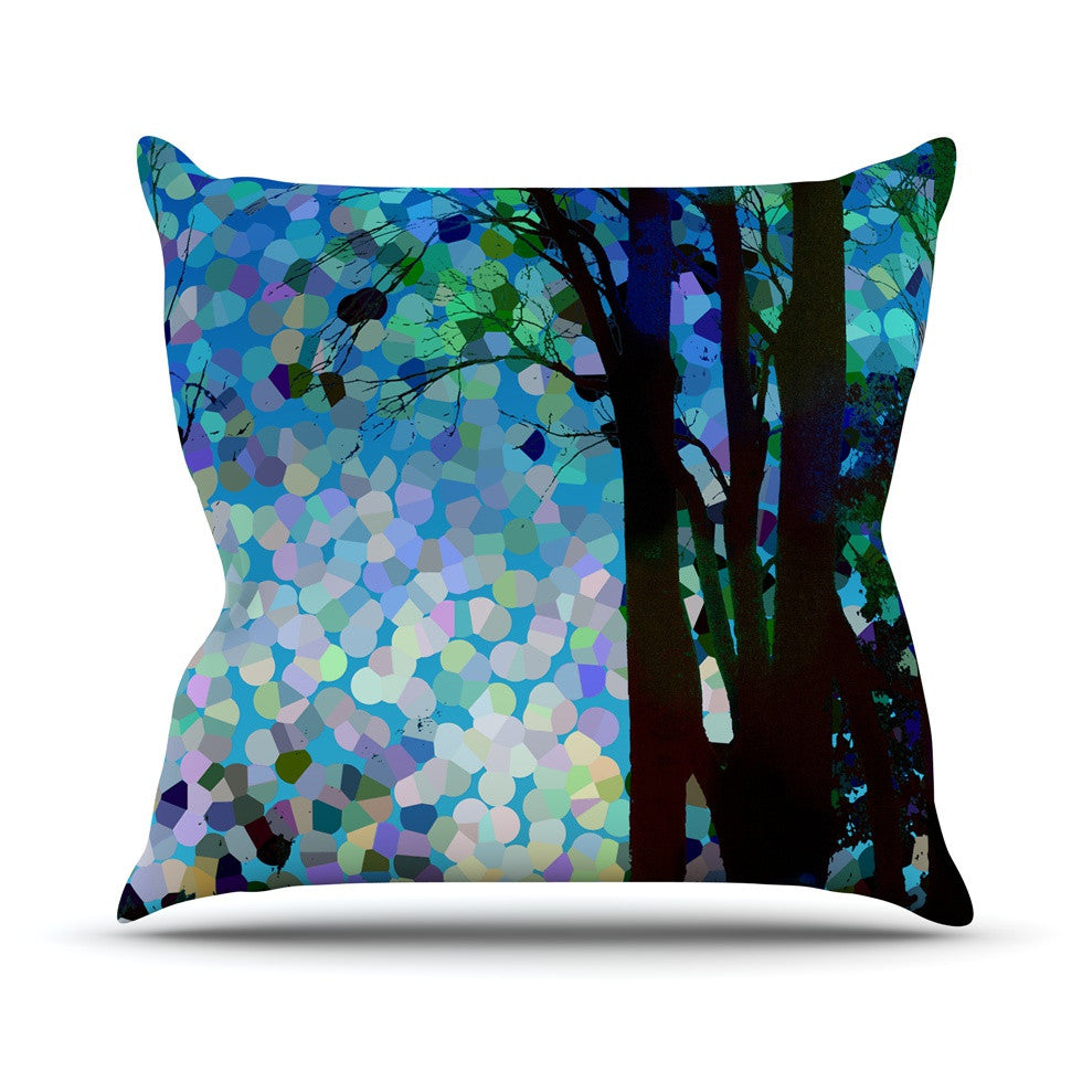 "Catherine Holcombe ""Blue Raspberry Jellybean"" Blue Geometric Outdoor Throw Pillow - KESS InHouse  - 1"