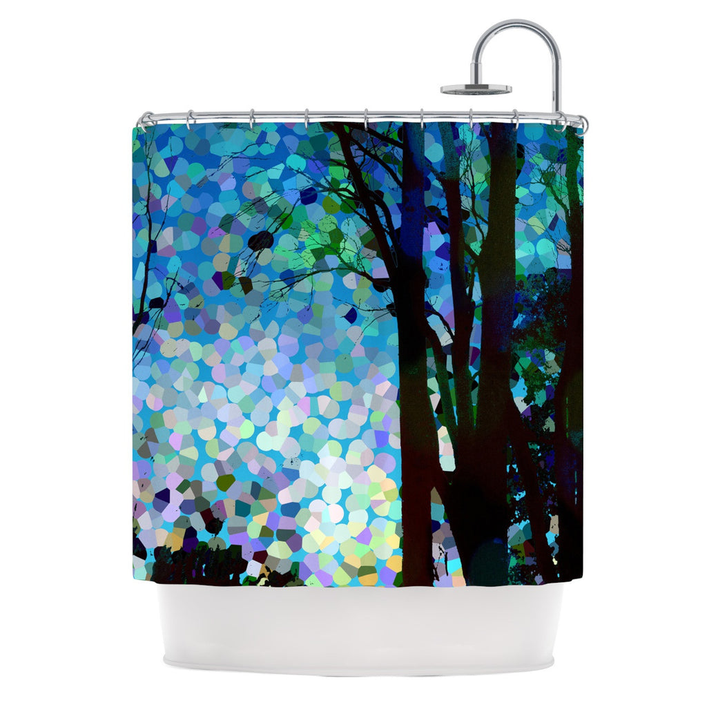 "Catherine Holcombe ""Blue Raspberry Jellybean"" Blue Geometric Shower Curtain - KESS InHouse"