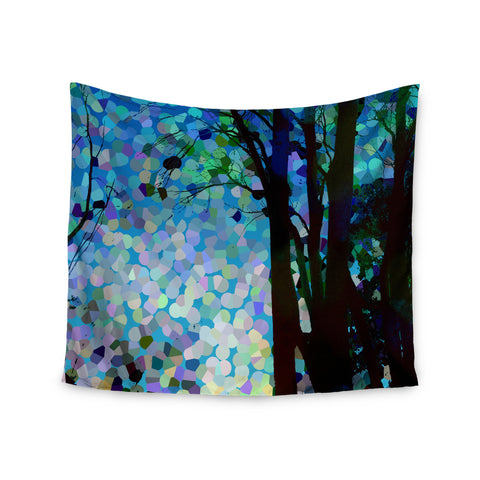 "Catherine Holcombe ""Blue Raspberry Jellybean"" Blue Geometric Wall Tapestry - KESS InHouse  - 1"