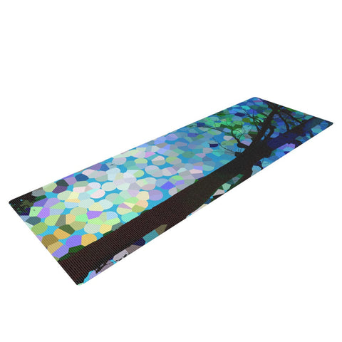 "Catherine Holcombe ""Blue Raspberry Jellybean"" Blue Geometric Yoga Mat - KESS InHouse  - 1"
