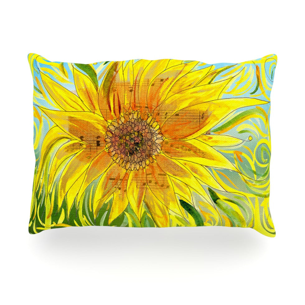 "Catherine Holcombe ""Syaured"" Yellow Green Oblong Pillow - KESS InHouse"