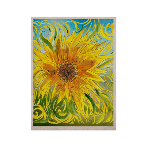 "Catherine Holcombe ""Sunflower Symphony"" Yellow Green KESS Naturals Canvas (Frame not Included) - KESS InHouse  - 1"