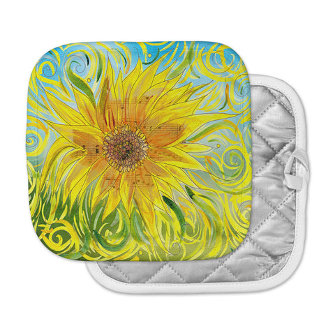 "Catherine Holcombe ""Sunflower Symphony"" Yellow Green Pot Holder"
