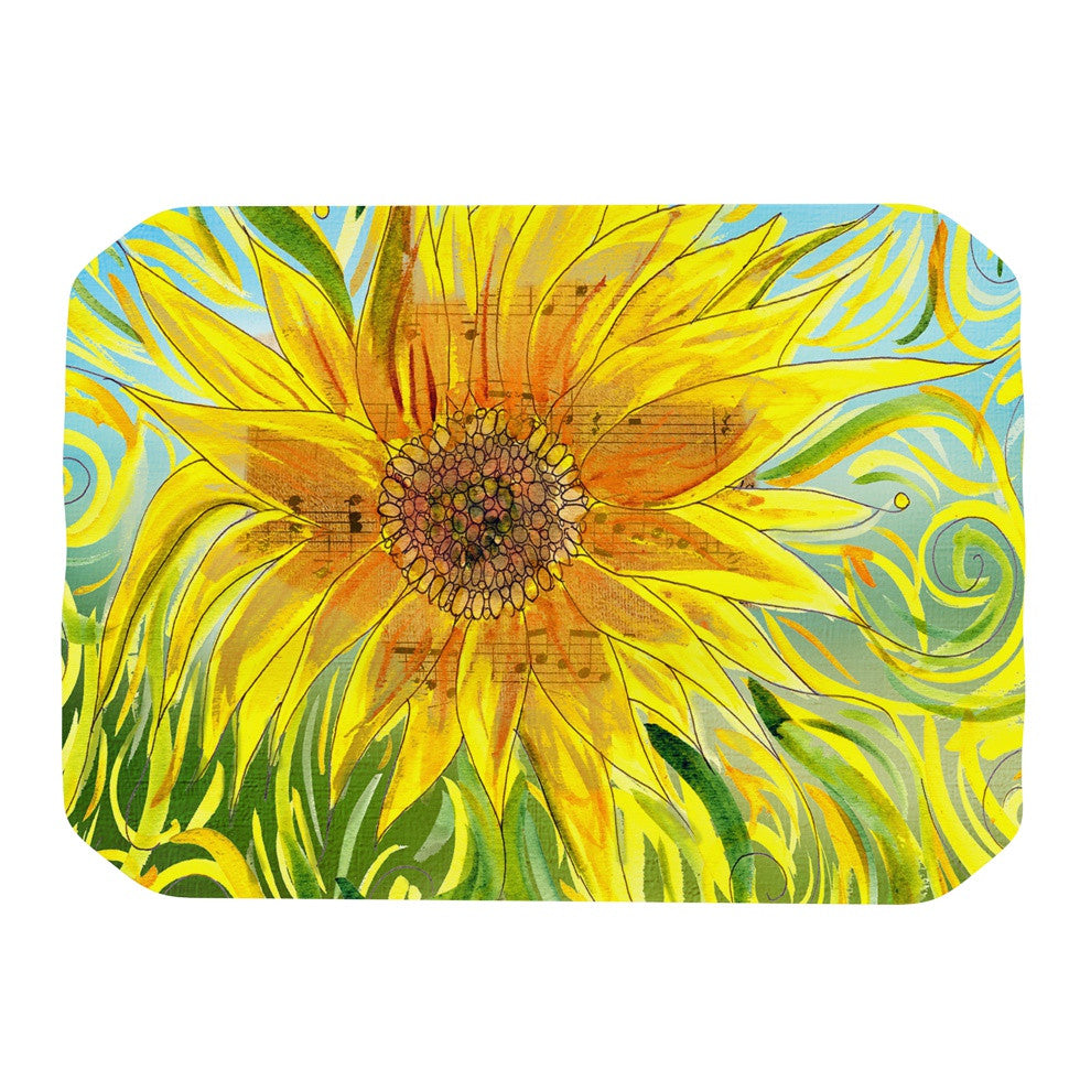 "Catherine Holcombe ""Sunflower Symphony"" Yellow Green Place Mat - KESS InHouse"