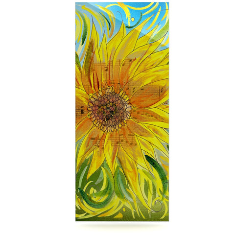 "Catherine Holcombe ""Sunflower Symphony"" Yellow Green Luxe Rectangle Panel - KESS InHouse  - 1"