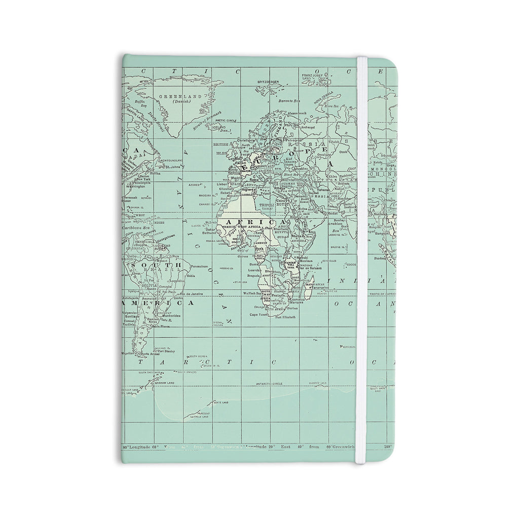 "Catherine Holcombe ""The Old World"" Blue Teal Everything Notebook - KESS InHouse  - 1"