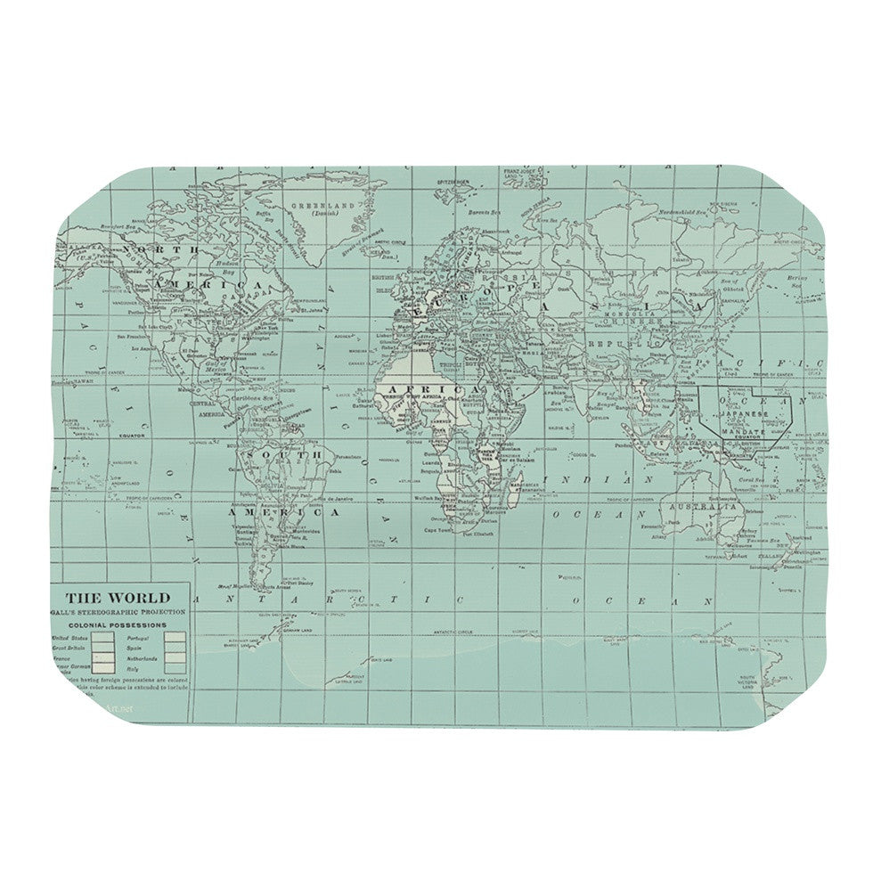 "Catherine Holcombe ""The Old World"" Blue Teal Place Mat - KESS InHouse"