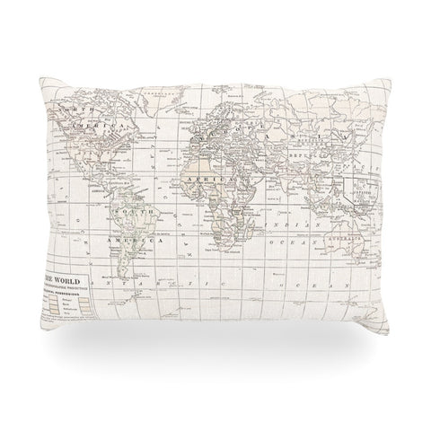 "Catherine Holcombe ""The Old World Cream"" White Oblong Pillow - KESS InHouse"
