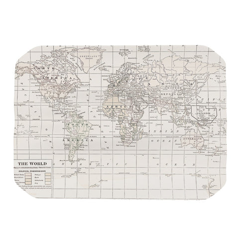 "Catherine Holcombe ""The Old World Cream"" White Place Mat - KESS InHouse"