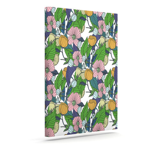 "Catherine Holcombe ""Spring Foliage"" Floral Pastels Canvas Art - KESS InHouse  - 1"
